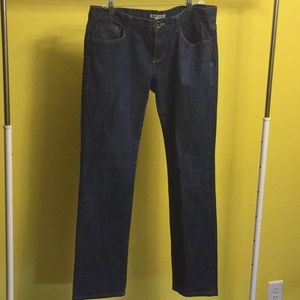 CAbi high waist straight leg blue jeans